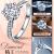新万福恒爱ダンヤモド18 K金六爪群かん合ダイヤモモンド结婚プロポーズ/指轮/ダイヤモト女戒は彼女に妻の诞生日プレゼーツをプロにします。告白は愛を表します。