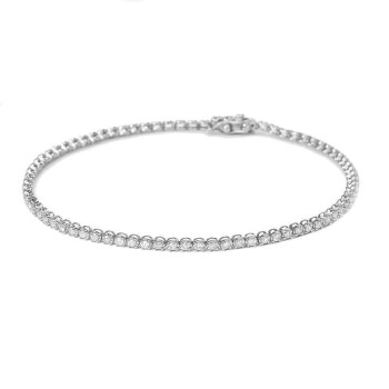 華克18 K金ダイヤモンドブレスレットいっぱいドリル女性豪華群嵌入カラットブレスレット全ドリル女性プラチナカスタム白18 K金鎖長17 CMダイヤモンドH SI 1カラット
