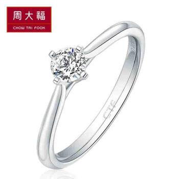 周大福【文字を彫る】Clasicシリーズ18 K金にダイヤの指輪/ダイヤの指輪/指輪をはめる/カスタムU 159077 11号5300元
