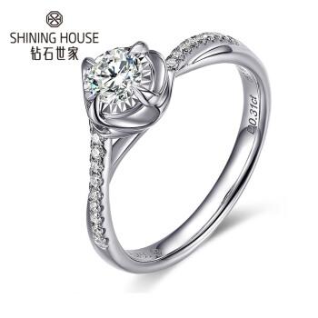 ダイヤモンドの世のダイヤモンドの指輪18 K金のダイヤモンドの指輪の女性の指輪のプロポーズの指輪の30分GIA裸のダイヤモンドは1カラットの効果のダイヤモンドの指輪の主な石の30分の副石の8分F-G/VS 13号(現物)を注文します