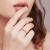 プラチナ6爪ダイヤモンド結婚プロポーズ婚約指輪女性指輪ダイヤモンドダイヤモンドフリードリルカスタム捻り腕雪片純PT 950プラチナ40点D-E/VS(現物)