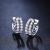 ホワイト18 Kダイヤモンドイヤリングファッションダイヤモンドピアス結婚バレンタインデープレゼントスポット-ホワイト18 K金合計39分