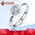 ダイヤモンド国際指輪6爪雪花PT 950プラチナダイヤモンド結婚指輪指輪指輪